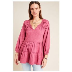 Anthropologie Maeve   Isola Tiered Babydoll Top